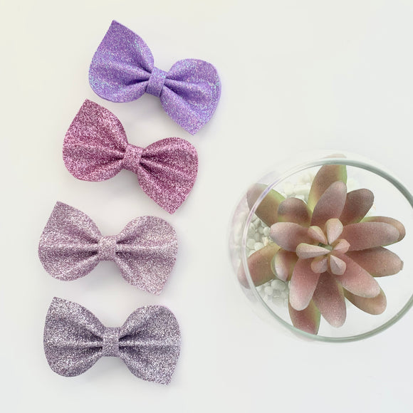 Purple Felt Reese Bow Collection