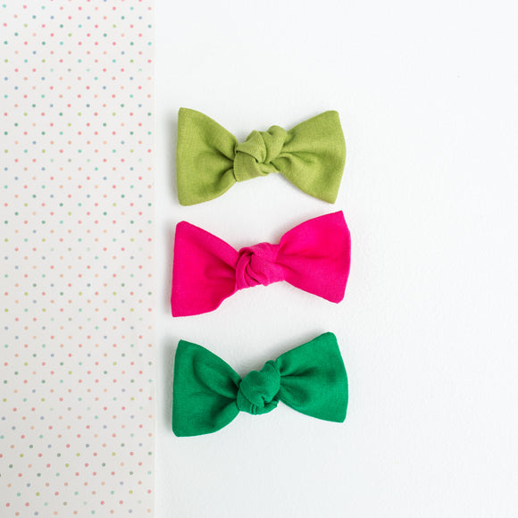 Watermelon Solids Sydnee Set (3 Bows)