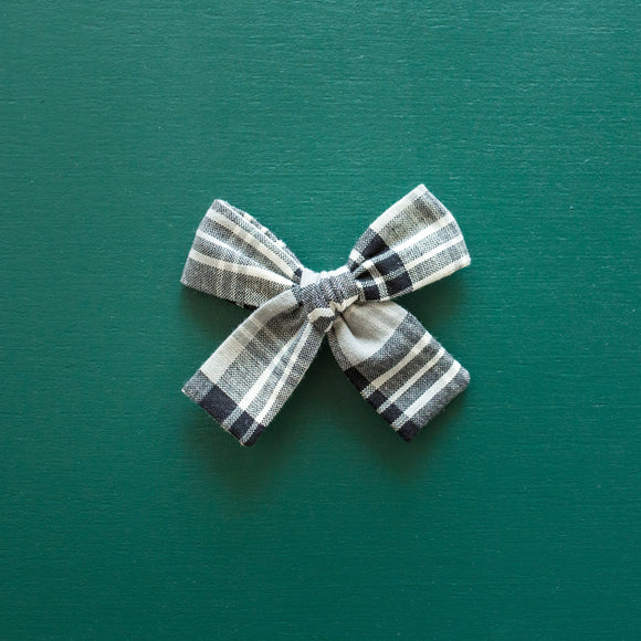 Neutral Plaid Isabella Bow