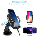 CHOETECH Fast Wireless Car Charging Dock 360 Degree Adjustable
