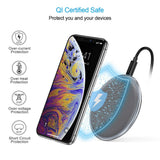 CHOETECH Zinc Alloy Ultra-Slim Fast Wireless Charger Grey Qi certified safe