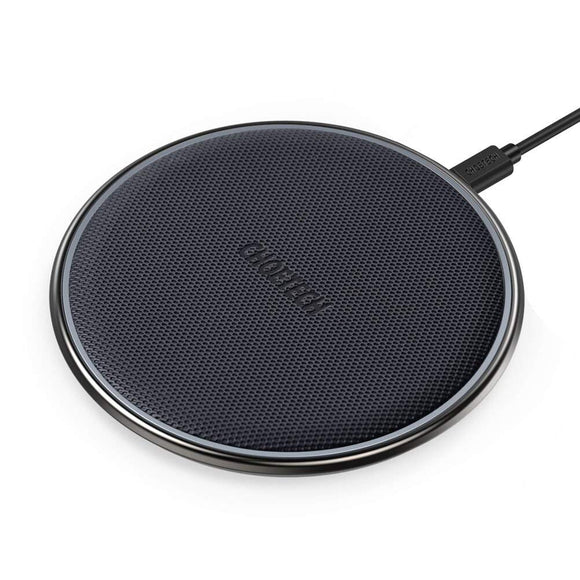 CHOETECH Zinc Alloy Ultra-Slim Fast Wireless Charger Black
