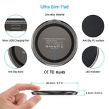 CHOETECH Zinc Alloy Ultra-Slim Fast Wireless Charger Black ultra slim pad