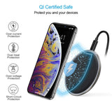 CHOETECH Zinc Alloy Ultra-Slim Fast Wireless Charger Black Qi certified safe