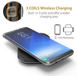 CHOETECH 3 Coils Wireless Charging Pad 3 coils charging free positioning