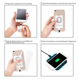 CHOETECH Qi Wireless Charging Receiver for iPhone instructions
