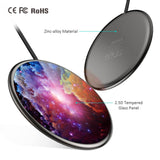 The CHOETECH Ultra-Slim Starlit Sky Wireless Charger zinc alloy and glass tempered