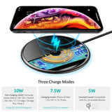 The CHOETECH Ultra-Slim Starlit Sky Wireless Charger three charge modes