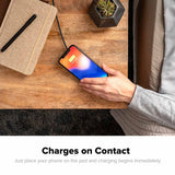 mophie Charge Stream Pad Mini charges on contact