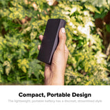 mophie Charge Stream Powerstation compact, portable design