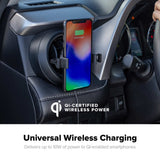 mophie Charge Stream Vent Mount universal wireless charging