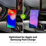 mophie Charge Stream Vent Mount optimised for Samsung and Apple fast charge