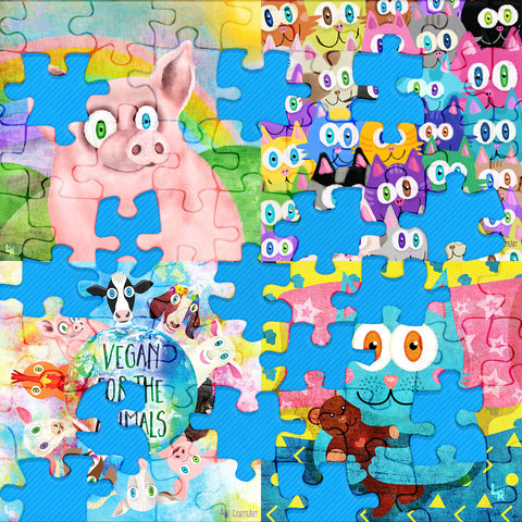 Digital Online Jigsaw Puzzles of Animals
