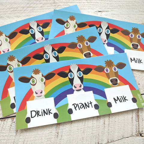 Group of Drink Plant Milk Bumper Stickers