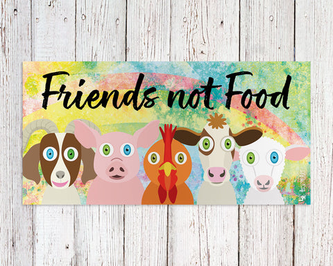 Friends not food bumper sticker