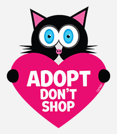 Adopt Don't Shop (cat with heart)