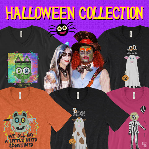 Collection of Halloween inspired graphic tees