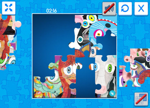 Screenshot preview of playing the online jigsaw puzzle game