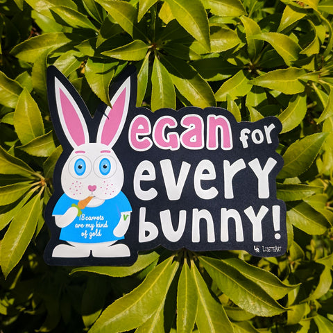 Vegan for everybunny! magnet
