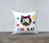"""CMYKat"" Premium Cat Throw Pillow Cover"