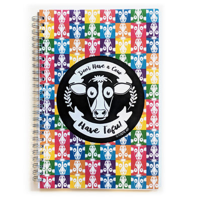 """Don't Have a Cow, Have Tofu!"" Spiral Notebook Vegan Journal"