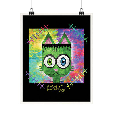 """Frankenkitty"" Monster Cat Fine Art Print"
