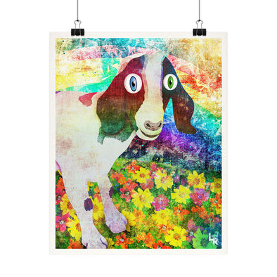 """Happy Goat"" Vegan Fine Art Print"