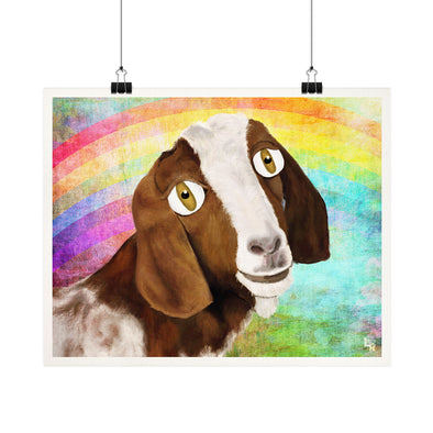 """Maddie"" Indraloka Animal Sanctuary - Whimsical Goat Fine Art Print"