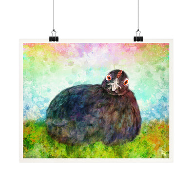 """Pencil"" Indraloka Animal Sanctuary - Whimsical Hen Fine Art Print"