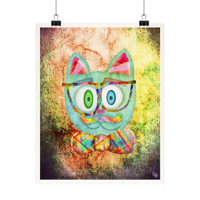 """Intellecat"" Funky Cat Fine Art Print"