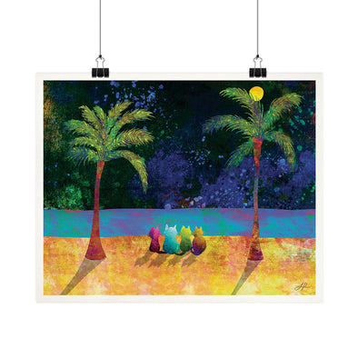 """Kitties and Hawaii"" - Cat Fine Art Print"