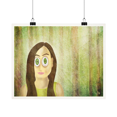 """Woods Series - Girl Portrait"" Whimsical Fine Art Print"