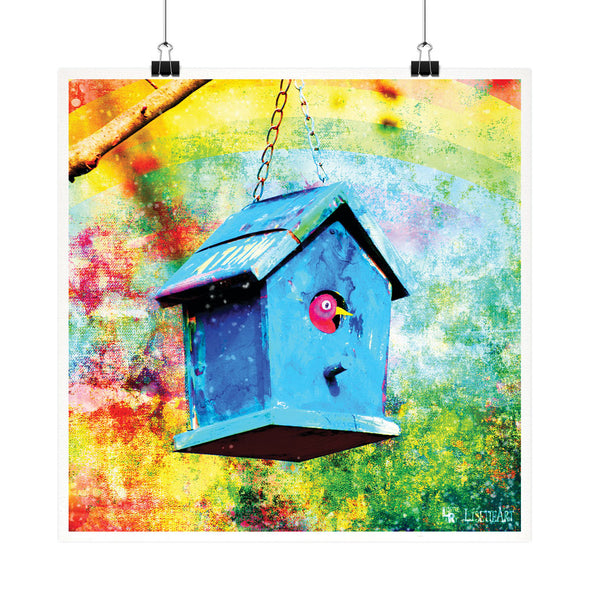 """Birdhouse"" Whimsical Fine Art Print"
