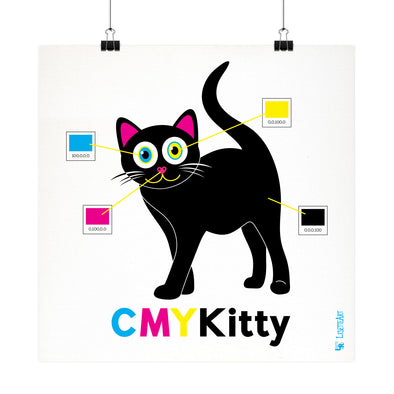 """CMYKitty"" Funky Cat Fine Art Print"