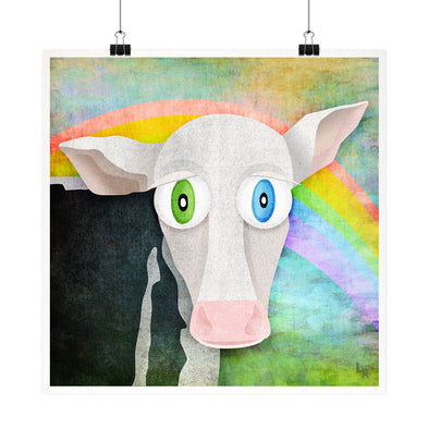 """The Cow Who Freed Himself"" Vegan Fine Art Print"
