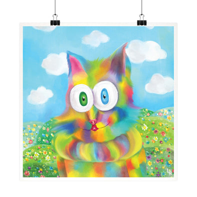 """Jester Cat"" Whimsical Fine Art Print"