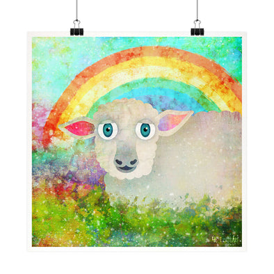 """Sheep in Grass"" - Vegan Fine Art Print"