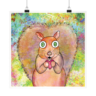 Squirrel Love - Whimsical Fine Art Print