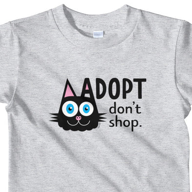 """Adopt, Don't Shop."" (cat ear) Little Kids T-Shirt"