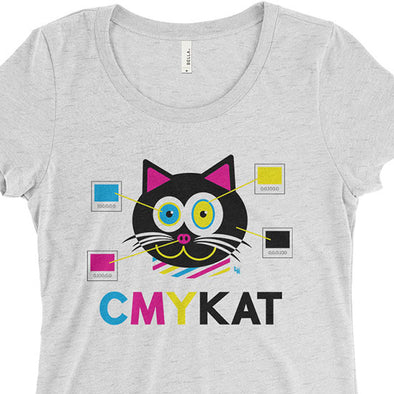 """CMYKat"" Junior Fitted Cat T-Shirt"