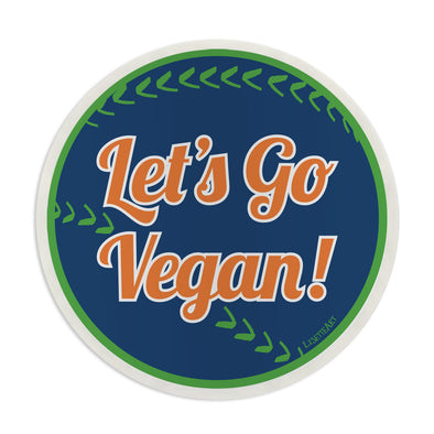"""Let's Go Vegan!"" Vinyl Bumper Sticker"