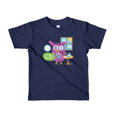 """Mornings Are a Hoot - I Am Not a Night Owl!"" Little Kids T-Shirt"