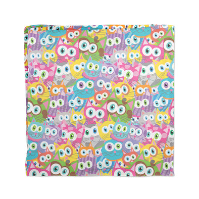 """Purrrballs"" Whimsical Colorful Cat Scarf"
