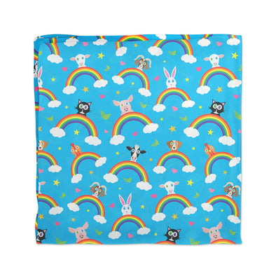 """Rainbow Friends"" Happy Animals Vegan Scarf"