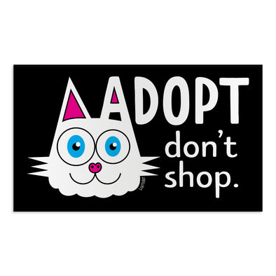 """Adopt, Don't Shop."" (cat ear) Car Magnet, Kitty Fridge Magnet"