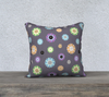 """Purrrfect Flowers"" Cat Premium Throw Pillow Cover"