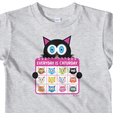 """Everyday is Caturday"" Little Kids Cat T-Shirt"