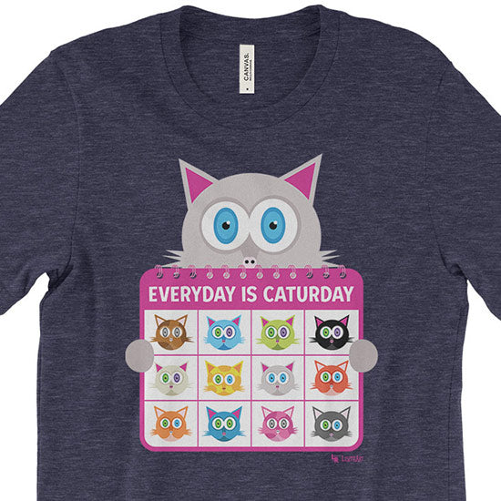 """Everyday is Caturday"" Unisex Cat T-Shirt"