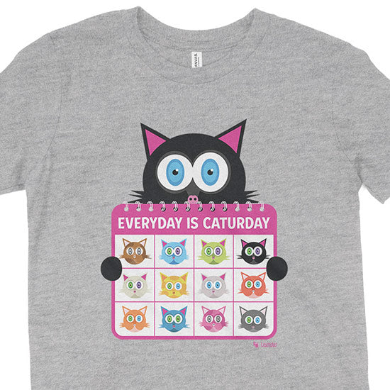 """Everyday is Caturday"" Kids Youth Cat T-Shirt"