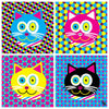"""CMYKat - 2x2"" Little Kids Cat T-Shirt"